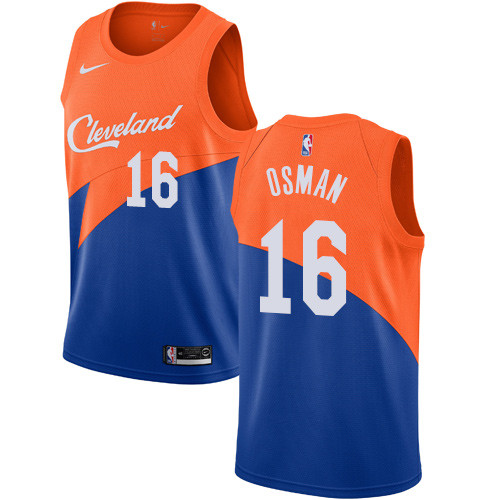 Men's Nike Cavaliers #16 Cedi Osman Blue NBA Swingman City Edition 2018-19 Jersey