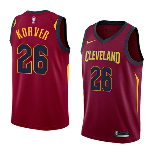 Men's Nike Cavaliers #26 Kyle Korver Red Stitched NBA Swingman Jersey