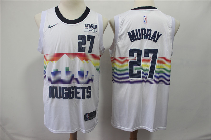 Men's Nuggets 27 Jamal Murray White 2018-19 City Edition Nike Swingman Jersey