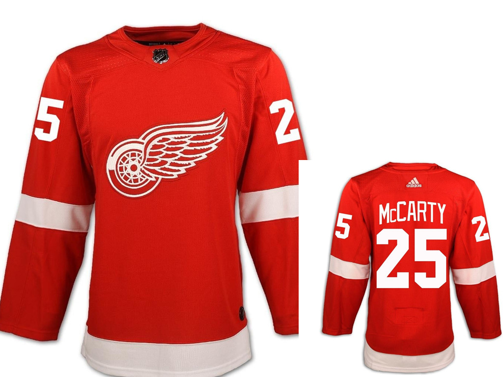 Men's Adidas Detroit Red Wings #25 Darren McCarty Red Home Jersey