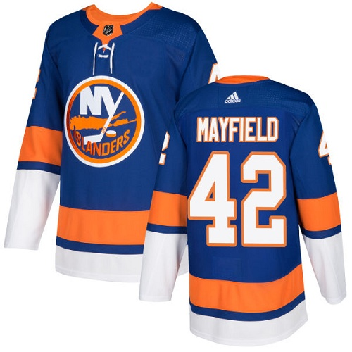 Men's New York Islanders #42 Scott Mayfield Adidas Royal Blue Home Authentic NHL Jersey
