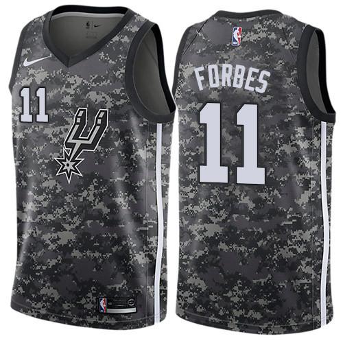 Men's Nike San Antonio Spurs #11 Bryn Forbes Black Basketball Swingman City Edition 2018-19 Jersey