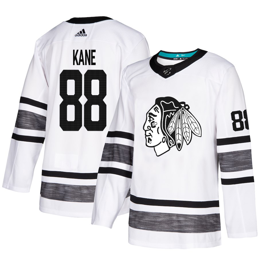 Chicago Blackhawks #88 Patrick Kane White Authentic 2019 All-Star Stitched NHL Jersey