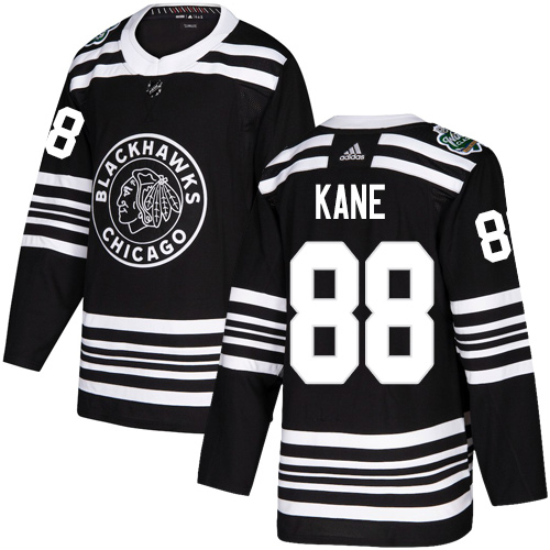 Youth Blackhawks #88 Patrick Kane Black Authentic 2019 Winter Classic Stitched NHL Jersey