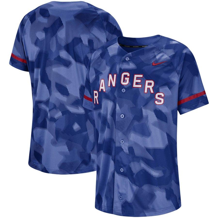 Texas Rangers Nike Camo Jersey Royal