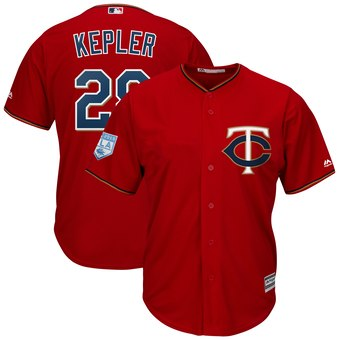 Men's Minnesota Twins 26 Max Kepler Majestic Scarlet 2019 Spring Training Cool Base Player Jersey