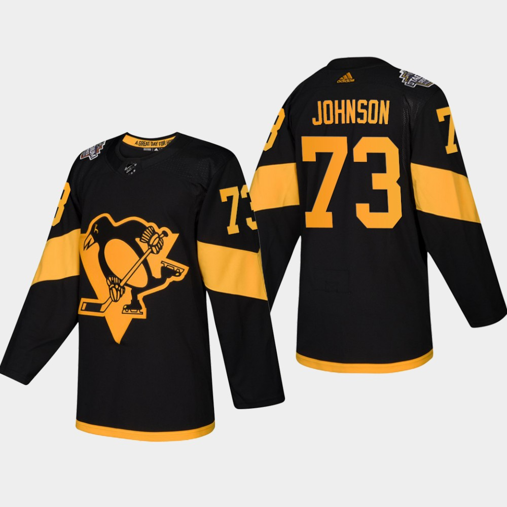 Men's Penguins #73 Jack Johnson Coors Light 2019 Stadium Series Black Authentic Jersey