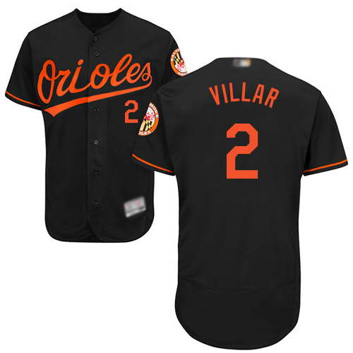 Orioles #2 Jonathan Villar Black Flexbase Authentic Collection Stitched MLB Jersey