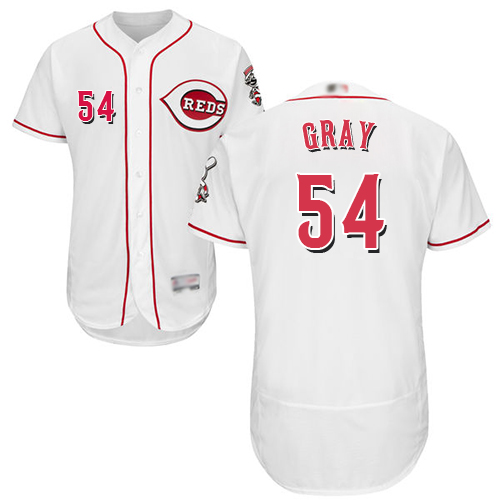 Reds #54 Sonny Gray White Flexbase Authentic Collection Stitched MLB Jersey