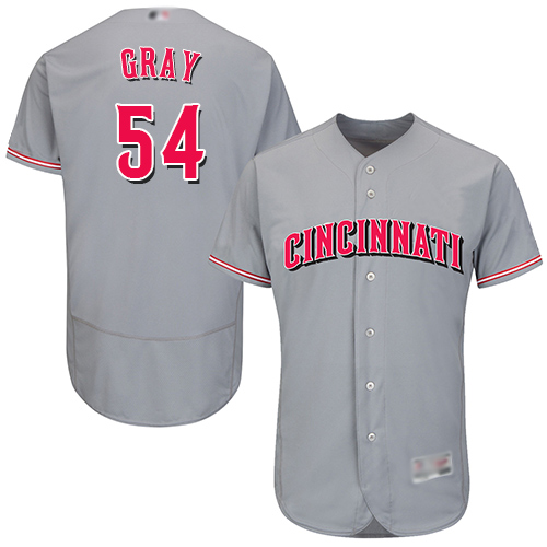 Reds #54 Sonny Gray Grey Flexbase Authentic Collection Stitched MLB Jersey