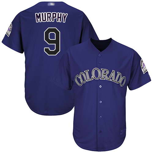 Rockies #9 Daniel Murphy Purple New Cool Base Stitched MLB Jersey