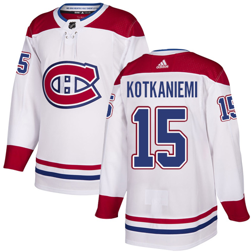 Adidas Canadiens #15 Jesperi Kotkaniemi White Road Authentic Stitched NHL Jersey