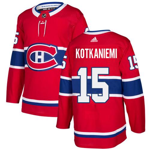 Adidas Canadiens #15 Jesperi Kotkaniemi Red Home Authentic Stitched NHL Jersey