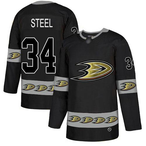 Adidas Ducks #34 Sam Steel Black Authentic Team Logo Fashion Stitched NHL Jersey