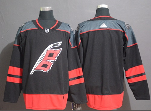 Adidas Hurricanes Blank Black Alternate Authentic Stitched NHL Jersey