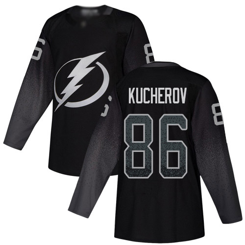 Adidas Lightning #86 Nikita Kucherov Black Alternate Authentic Stitched NHL Jersey