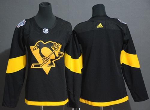 Adidas Penguins Blank Black Authentic 2019 Stadium Series Stitched NHL Jersey