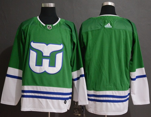 Adidas Whalers Blank Green Authentic Stitched NHL Jersey