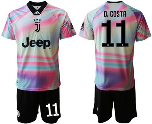 Juventus #11 D.Costa Anniversary Soccer Club Jersey