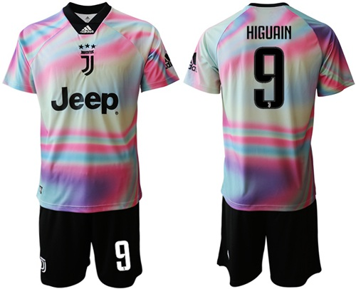 Juventus #9 Higuain Anniversary Soccer Club Jersey
