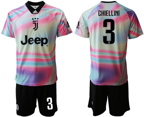 Juventus #3 Chiellini Anniversary Soccer Club Jersey