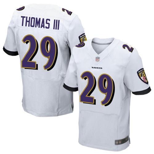 Nike Ravens #29 Earl Thomas III White Men's Stitched NFL New Elite Jersey