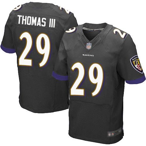 Nike Ravens #29 Earl Thomas III Black Alternate Men's Stitched NFL New Elite Jersey