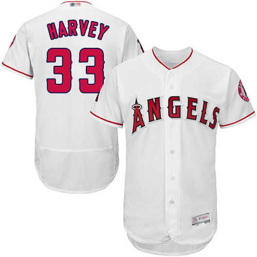 Anaheim #33 Matt Harvey White Flexbase Authentic Collection Stitched MLB Jersey