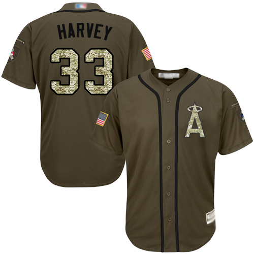 Anaheim #33 Matt Harvey Green Salute to Service Stitched MLB Jersey