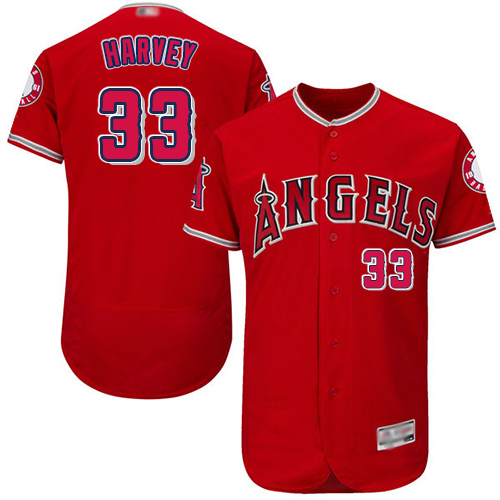 Anaheim #33 Matt Harvey Red Flexbase Authentic Collection Stitched MLB Jersey