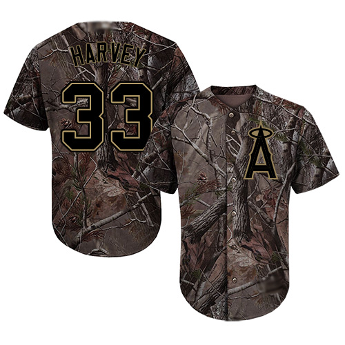 Anaheim #33 Matt Harvey Camo Realtree Collection Cool Base Stitched MLB Jersey