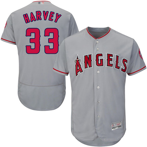 Anaheim #33 Matt Harvey Grey Flexbase Authentic Collection Stitched MLB Jersey