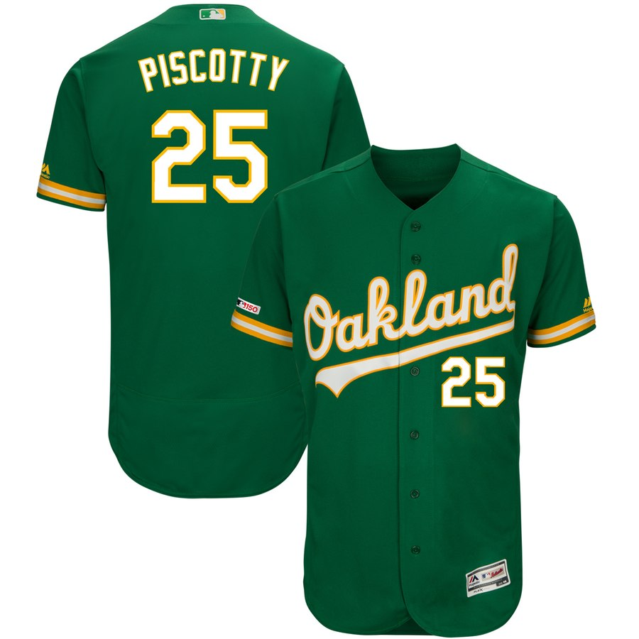 Athletics #25 Stephen Piscotty Majestic Kelly Green Alternate Flex Base Authentic Collection Player Jersey