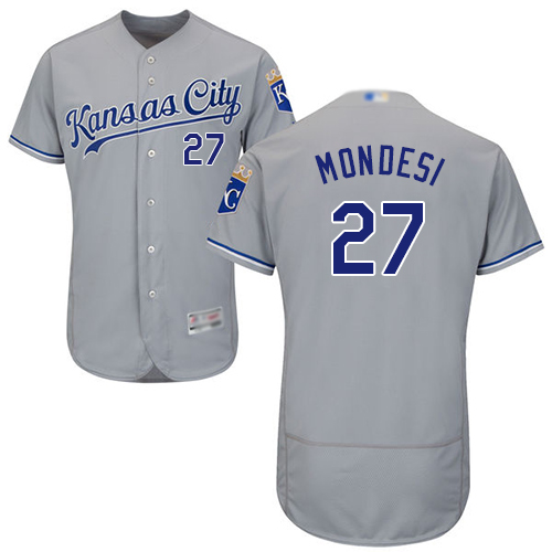 Royals #27 Raul Mondesi Grey Flexbase Authentic Collection Stitched MLB Jersey