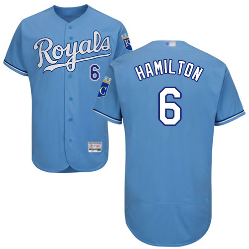 Royals #6 Billy Hamilton Light Blue Flexbase Authentic Collection Stitched MLB Jersey