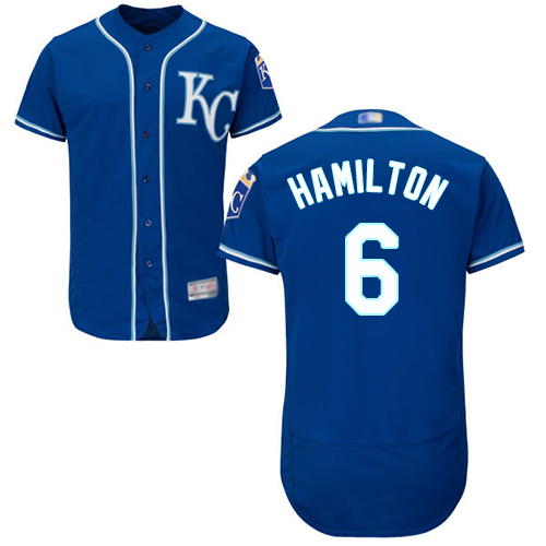 Royals #6 Billy Hamilton Royal Blue Flexbase Authentic Collection Stitched MLB Jersey