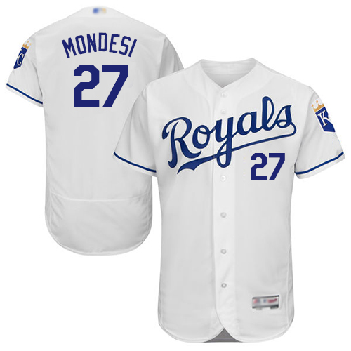 Royals #27 Raul Mondesi White Flexbase Authentic Collection Stitched MLB Jersey