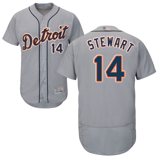 Tigers #14 Christin Stewart Grey Flexbase Authentic Collection Stitched MLB Jersey