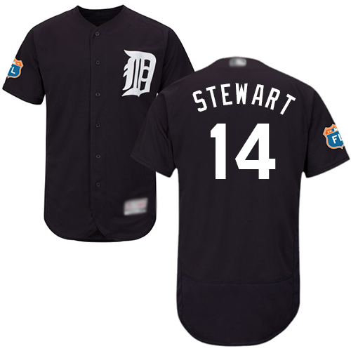 Tigers #14 Christin Stewart Navy Blue Flexbase Authentic Collection Stitched MLB Jersey