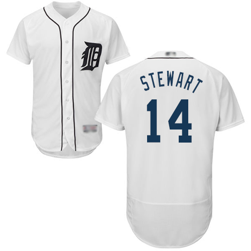 Tigers #14 Christin Stewart White Flexbase Authentic Collection Stitched MLB Jersey