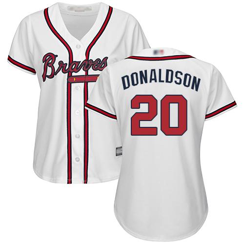 Braves #20 Josh Donaldson White Home Women's Stitched MLB Jersey