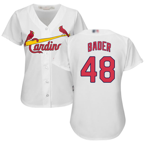 Cardinals #48 Harrison Bader White Home Women's Stitched MLB Jersey