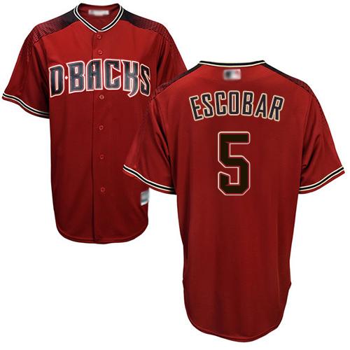 Diamondbacks #5 Eduardo Escobar Sedona Red Alternate Women's Stitched MLB Jersey