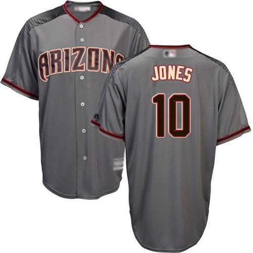 Diamondbacks #10 Adam Jones Gray Road Women's Stitched MLB Jersey