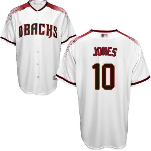 Diamondbacks #10 Adam Jones White Crimson Home Women's Stitched MLB Jersey