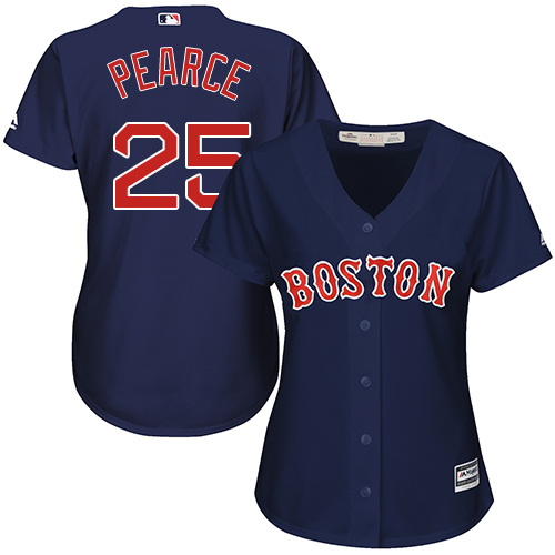 Red Sox #25 Steve Pearce Navy Blue Alternate Women's Stitched MLB Jersey