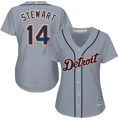 Tigers #14 Christin Stewart Grey Road Women's Stitched MLB Jersey