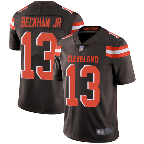 Nike Browns #13 Odell Beckham Jr Brown Team Color Youth Stitched NFL Vapor Untouchable Limited Jersey