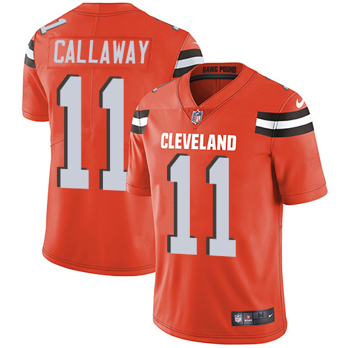 Nike Browns #11 Antonio Callaway Orange Alternate Youth Stitched NFL Vapor Untouchable Limited Jersey
