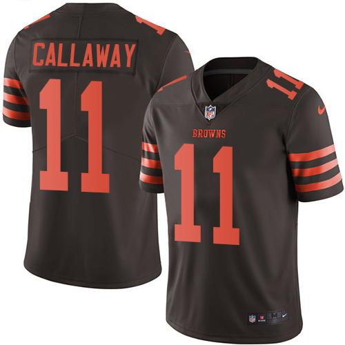 Nike Browns #11 Antonio Callaway Brown Youth Stitched NFL Limited Rush Jersey